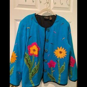 EUC Allure Rayon/cotton/flax jacket.